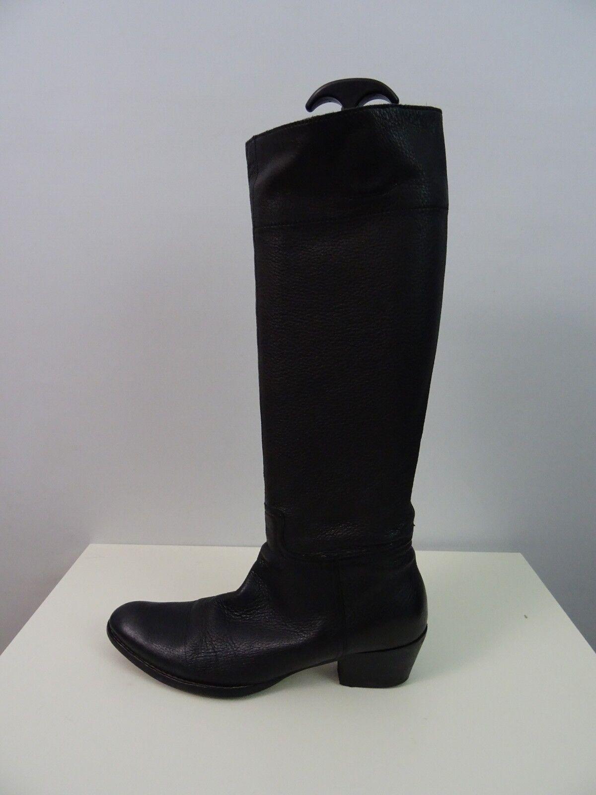 Miu Kniehoch  Miu Damen Stiefel Cowboystiefel Kniehoch Miu Schwarz Handschuhweiches Leder 39 9d9b00