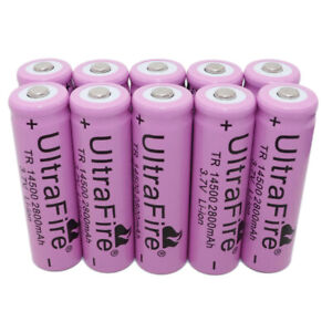 10X-14500-Batterie-Li-ion-3-7V-2800mAh-Rechargeable-Battery-for-Outil-Lampe-New
