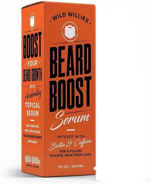 Beard Growth Serum with Biotin & Caffeine Natural Organic Enhancer Full Thicker