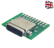 DIY 24pin USB-C USB 3.1 Type C Female Socket Connector SMT type with PC Board