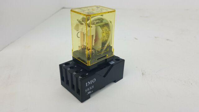 IDEC RR2P-U 24 VAC Pilot Cube Relay RR2PU 2 NO 2 NC w/ Relay Base AC24V