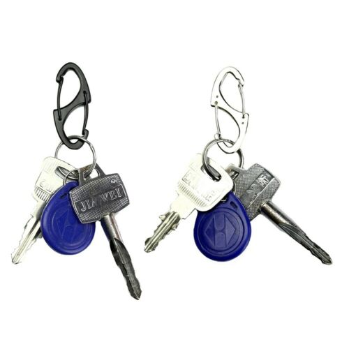 Clip Mini Keychain Hanging Hook Key Chain Ring Metal Carabiner Release Buckle