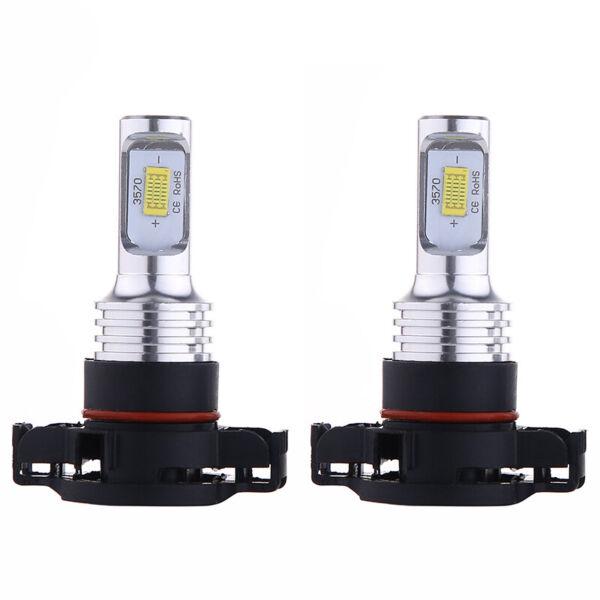 Pair Bright 35w 4000lm 6000k Hid Xenon 2504 Psx24w Led Fog Light Bulb Lamp White