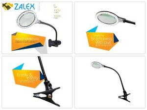 Task Lamp With Magnifier Clamp Reading Magnifying Glass