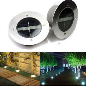 led solar bodeneinbau strahler au en dekoration licht f r weg terrasse garten ebay. Black Bedroom Furniture Sets. Home Design Ideas