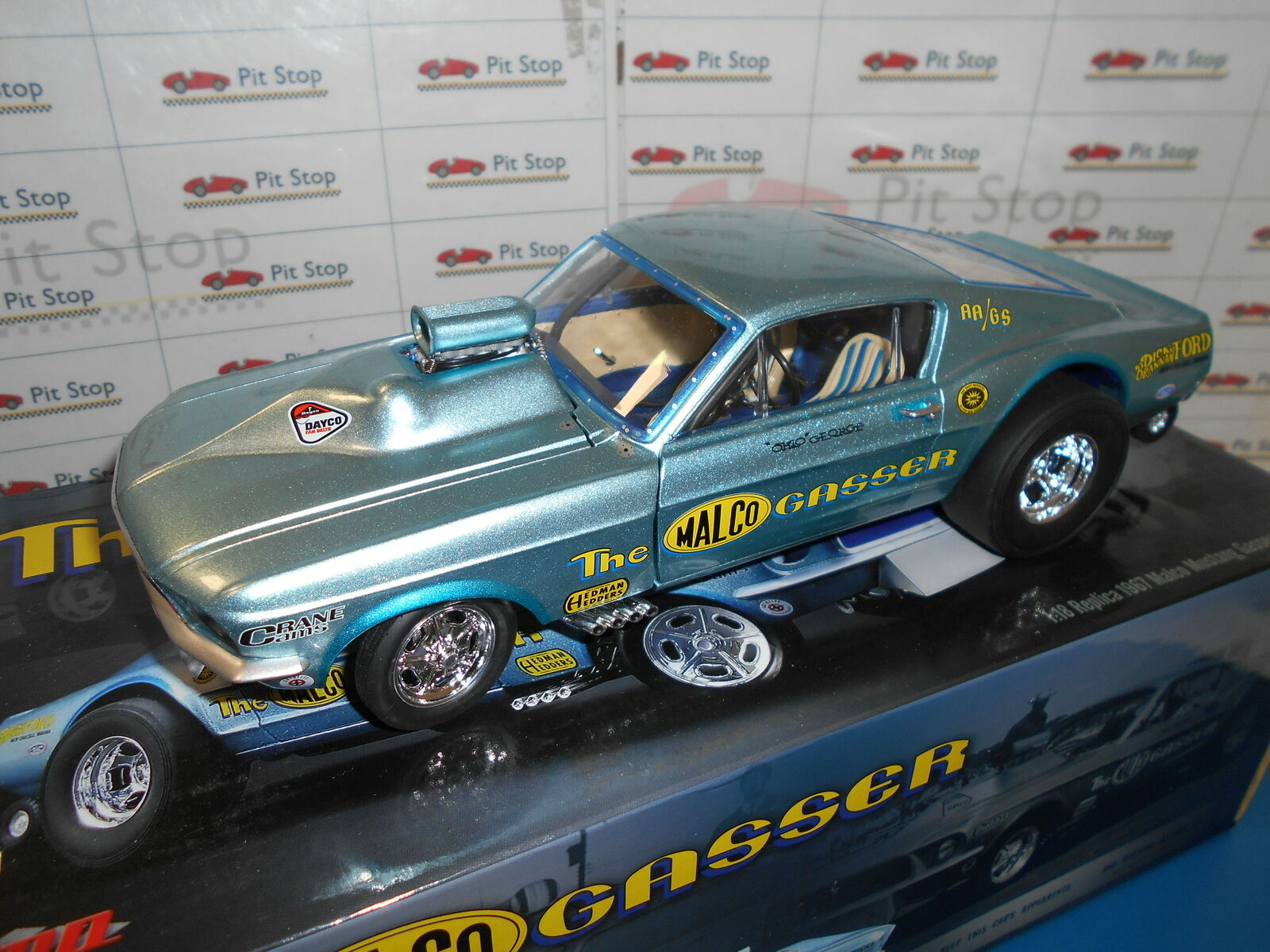 GMP18879 by GMP MALCO MUSTANG GASSER WITH AIR PLOW REPLICA 1967 1 18