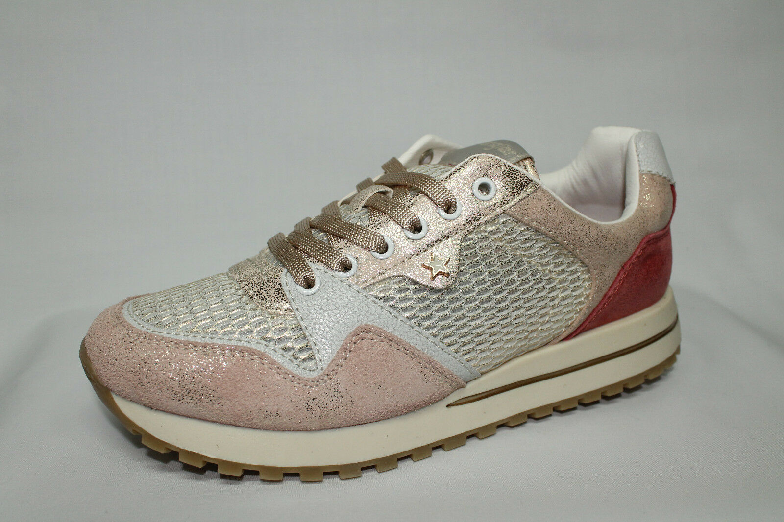Sneakers Wrangler Beyond bianco, platino e rosa Memory Foam listino - 20%
