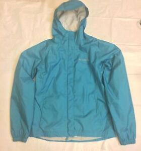 Pre Owned Columbia Teal Windbreaker Jacket Packable Sz 18
