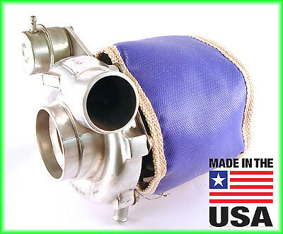 Blue TD06H Big 16G 18G 20G ECLIPSE DSM TURBO BLANKET TURBOCHARGER HEAT SHIELD