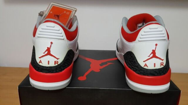 0501af56490f Nike Air Jordan 3 III Retro Fire Red 11.5 US White Black Cement 88 Bred BHM  Flip for sale online