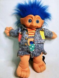 Troll Doll Vintage Ace Novelty Treasure Troll 1990s Plush