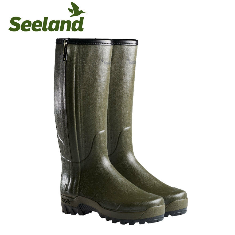Seeland Estate Vibram Leder Lined Dark Grün Stiefel Wellie Wellington