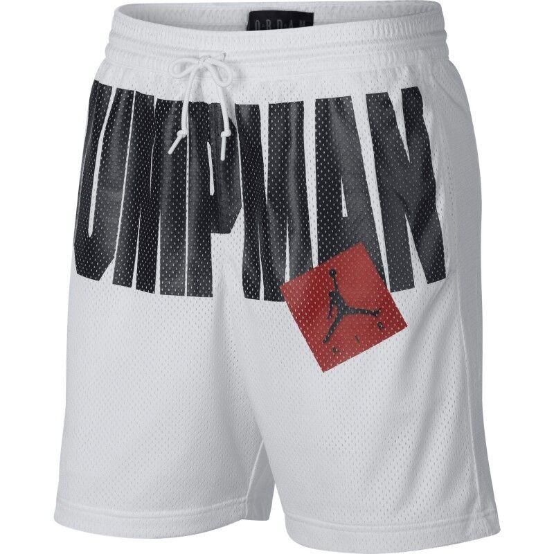 check out e4573 b1afd Nike JORDAN JUMPMAN AIR AA4607-100 Bianco Nero AA4607-100 SHORT mod.  nrwzql1683-Shorts e bermuda