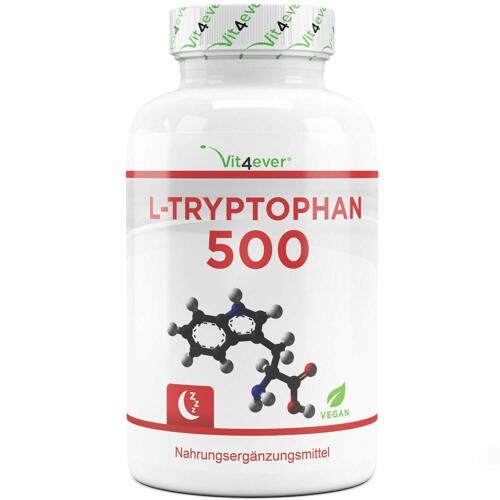 Laborgeprüft 240 Kapseln Vit4Ever® L-Tryptophan 500 Mg Reine Aminosäure