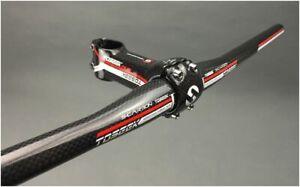 TOSEEK Full Carbon MTB Road Bike Bicycle Riser flat Bar Handlebar 31.8*580-640mm