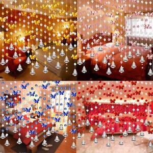 Crystal Garland Beads String Butterfly Screen Door Hanging Room - Crystal hanging room divider