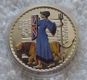 Britannia £2 2001 1 oz SILVER colorized colored coin Great Britain ounce - Grzedzice, Polska - Britannia £2 2001 1 oz SILVER colorized colored coin Great Britain ounce - Grzedzice, Polska