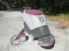 Minuteman 240x Walk Behind 24v Floor Scrubber Cleaner With Charger Low Hours Pr