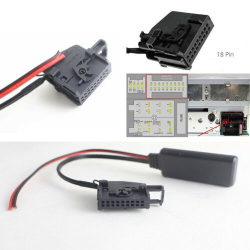 Bluetooth Adapter Aux Cable 18pin For Mercedes Comand 2.0 APS 220 W211 W209 W168