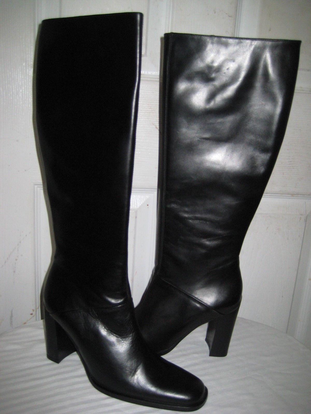 J crew collection Rory nero Leather stivali scarpe donna Dimensione 7.5