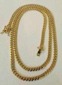 Handmade 14K Solid Gold Miami Cuban Link Chain, 24 4.10 MM 30 Grams