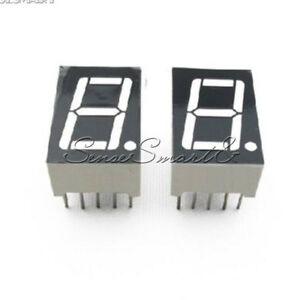 "5PCS NEW Red 7 Segment 0.5/"" LED Display Digital Tube Common Anode 1 Bit"