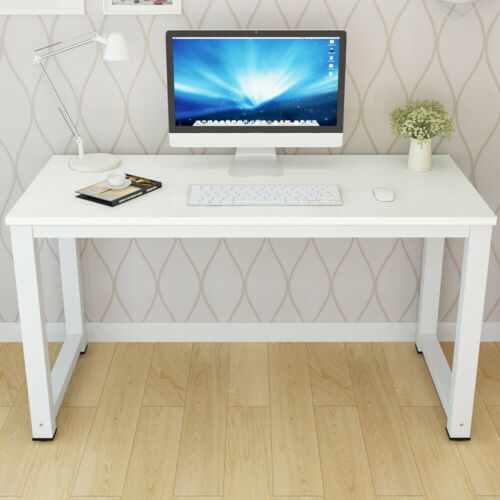 White Office Wood Computer Table Home Study Desk Furniture Laptop Workstation