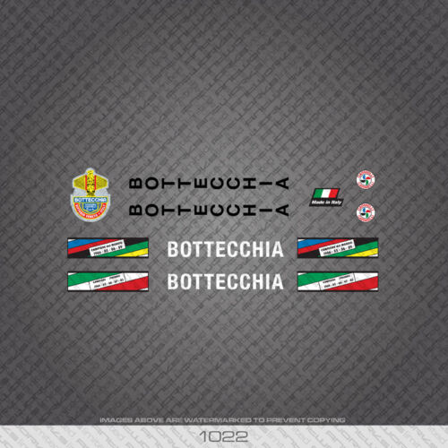 01022 Bottecchia Bicycle Stickers Decals Transfers