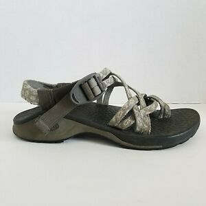 Chaco-Vibram-Sport-Strappy-Sandals-Hiking-Womens-Size-6-Gray-White-10-Inches