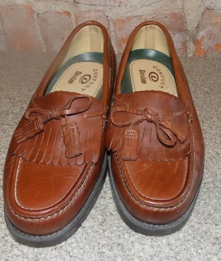 DEXTER  BROWN DRESS SHOES SIZE 10 /2  THE MED  MADE IN THE   USA 3185ac