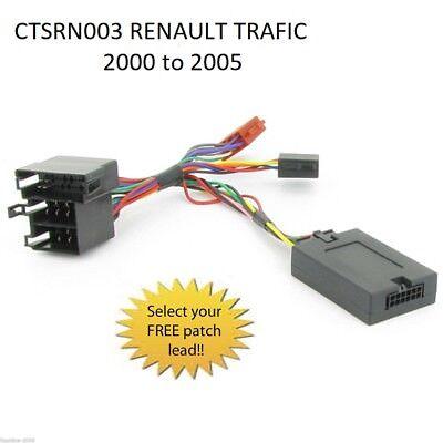 CTSRN003 RENAULT LAGUNA 2000 to 2005 STEERING WHEEL STALK CONTROL INTERFACE LEAD