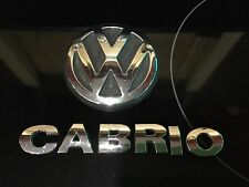 1999-2002 Volkswagen Cabrio Emblem Trunk Set Oem 99-02 VW Cabrio