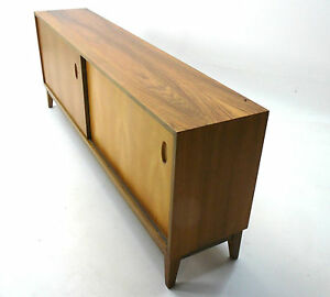 50er 60er jahre sideboard mit schiebet ren wk m bel ebay. Black Bedroom Furniture Sets. Home Design Ideas