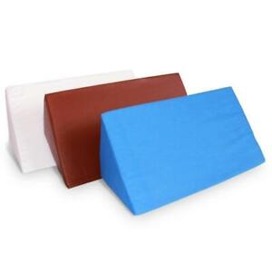 Foam-Wedge-Pillow-Elevation-Cushion-Lumbar-Support-Cottong-or-PU-Leather-Zipper
