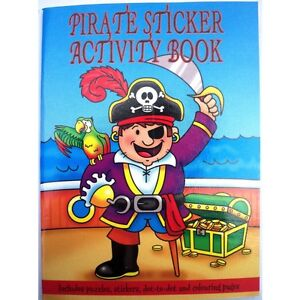 10-Pirate-Sticker-Activity-Books-All-Occasions-Birthday-Party-Bag-Fillers-Toy