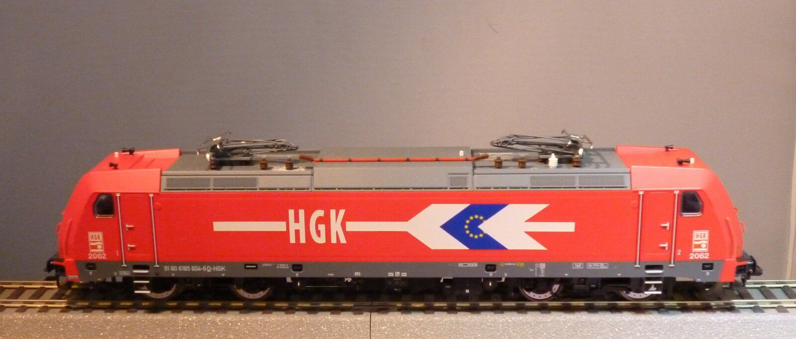 Trix HO 22680 E-Lok BR 185 604-6 dB  F 140 ac2   HKG  ep.6 NUOVO & OVP