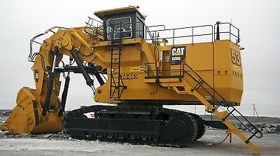 "CAT CATERPILLAR 6060 MINE EXCAVATOR TRACK HOE CUSTOM LARGE 43/"" x 24/"" HD POSTER"