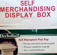 Deckorail 4 In. X 4 In. Hampton Flat Top Wood Post Great Buy Free Shipping
