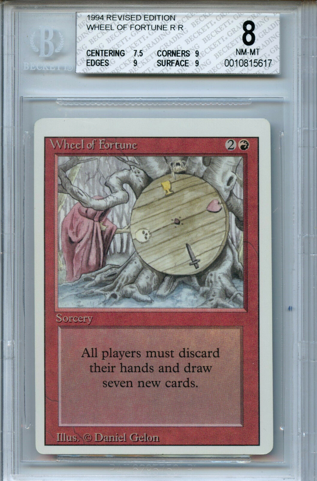MTG MTG MTG Revised Wheel of Fortune BGS 8.0 NM-MT Card Magic Amricons 5617 6e88cb