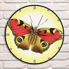 Reloj De Pared Mariposa Diseño de Color Vinyl Record Hogar Arte Coleccionista de oficina de tienda 1
