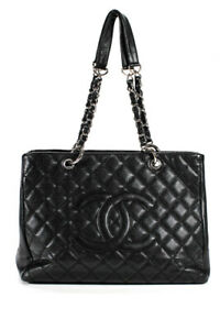 Chanel-Quilted-Caviar-Leather-GST-Grand-Shopper-tote-Tote-Shoulder-Handbag-Black
