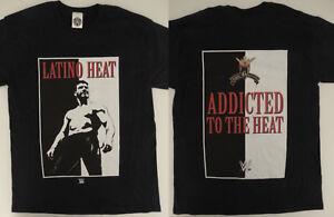 Eddie-Guerrero-Latino-Heat-Wrestling-WWE-Noir-Licence-Officielle-T-Shirt