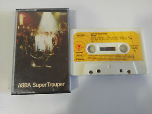 Abba Super Trouper Carnaby Spain Edition 1980 Paper Labels Kassette Tape