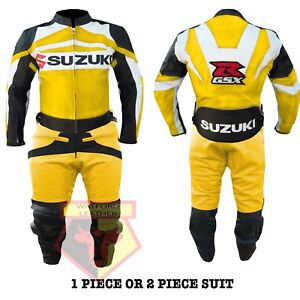 Suzuki Gsx Orange Motorbike Motorcycle Cowhide Leather Armoured Pant/trouser High Quality Materials Pants Men's Clothing