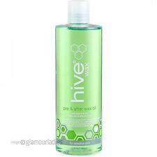 HIVE OF BEAUTY 400ml Pre and After Wax Sensitive Oil Coconut Lime Soothes Skin