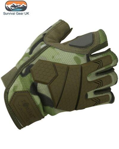 BTP Alpha Tactical Military Fingerless Gloves Micro Fibre Palm Rubber Knuckle