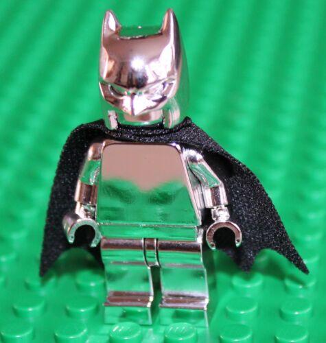 Lego Silver Chrome Batman with Black Cape Minifigure NEW!!!!