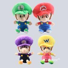 "Baby Mario Luigi Wario Waluigi 6/"" Plush Doll Toys Gifts 4X Super Mario Bros"