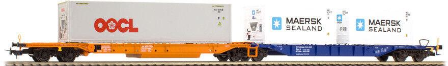 TILLIG 76637 DB Kombiwaggon Sdggmrs 744 orange blue, container 2x 20' Maersk Sea
