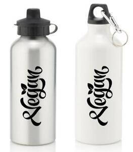 Vegan-Water-Bottle-Vegan-Aluminium-Sports-Water-Bottle-All-Black-Logo
